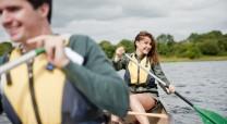 Couple kayaking on Upper Lough Erne